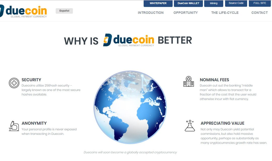 DUECOIN – The New Decentralized Blockchain-Based Cryptocurrency