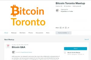 Bitcoin meetup group in Toronto.